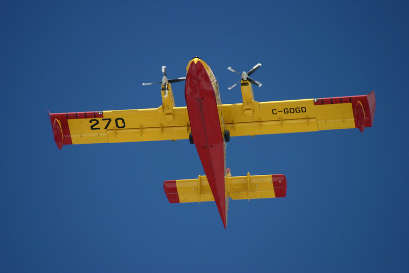 Tanker 270 flies overhead the Dryden Airport. This photo looks great at 24x36 inches.