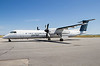 Porter Airlines sitting on the Dryden ramp with a Dehavilland DHC-8-402.