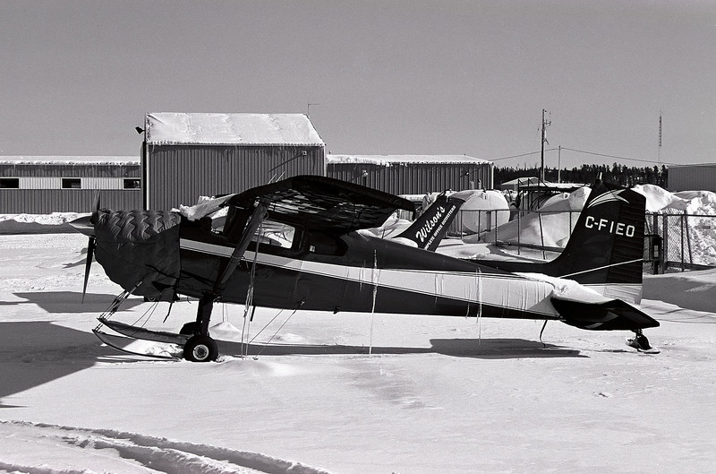 This Cessna 180 was photographed at the local airport with a Leica R4 with a Leitz 35-70mm lens. Film was bulk loaded Kodak T-max 100 developed in D76 for 7.25 mins at 18C.