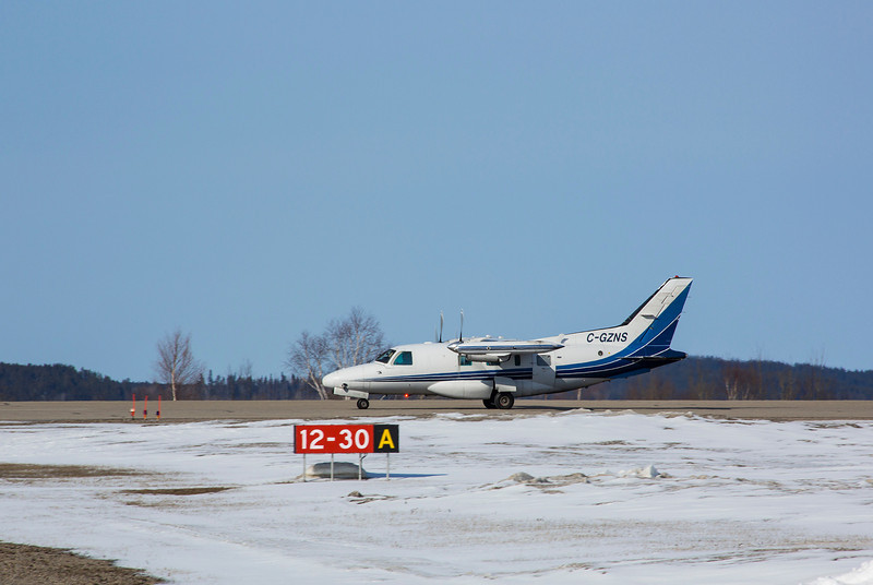 109 of 365 (C-GZNS)<br /> <br /> Medical flight just landed at the Dryden Airport to trandfer a patient to an Ambulance.