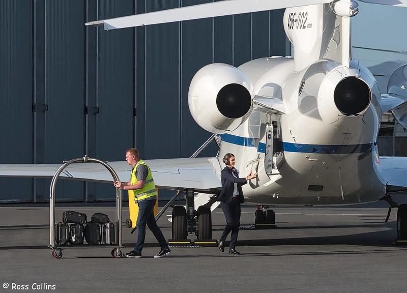 RAAF Dassault 7X A56-002 arriving at WLG, 25 November 2019