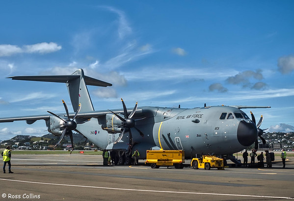 RAF Airbus A400M at Wellington, 2017