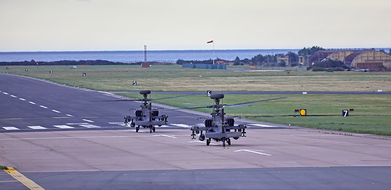 Apache Helicopters out on Exercise from Leuchars - 18 September 2018
