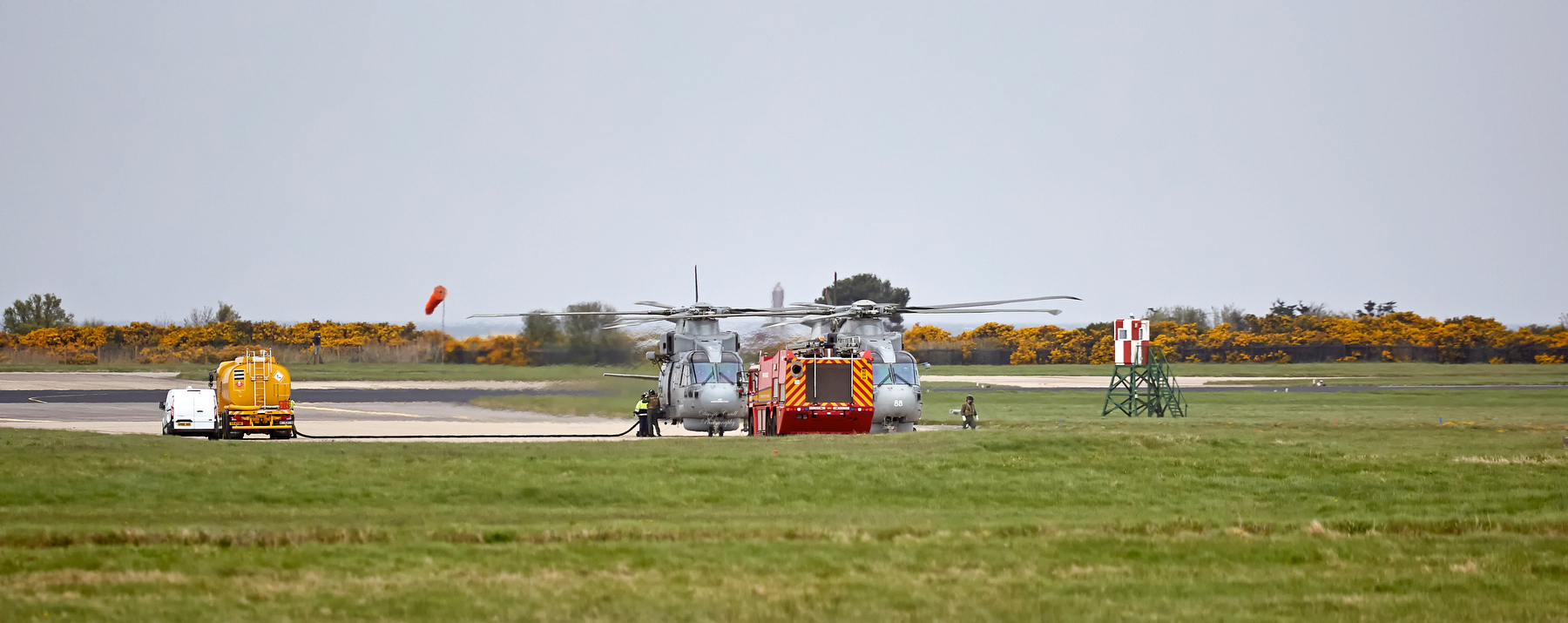 Merlins Refuelling at RAF Lossiemouth - 11 May 2018
