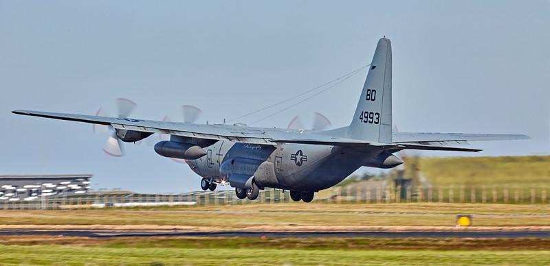 US Navy Lockheed C-130T Hercules (BD-4993 at RAF Lossiemouth - 27 June 2018