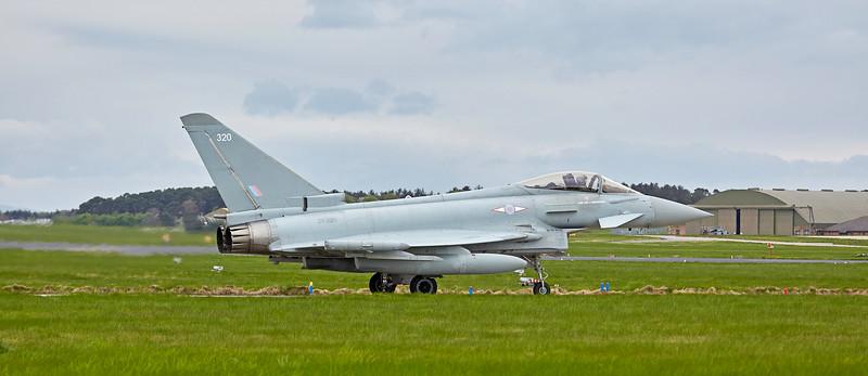 Typhoon FGR4 (ZK320) at RAF Lossiemouth - 9 May 2018