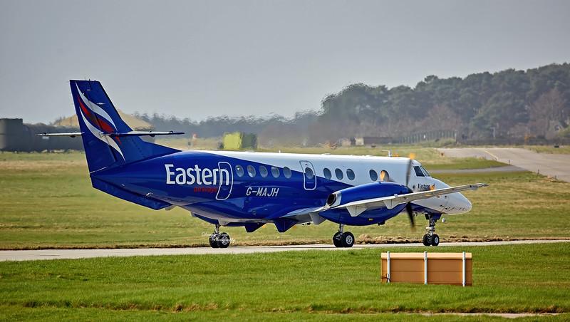 British Aerospace Jetstream 41 (G-MAJH) at RAF Lossiemouth - 12 April 2016