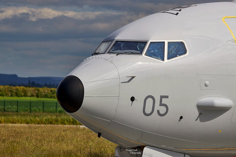 RAF Boeing P-8A Poseidon (ZP805) at RAF Lossiemouth - 8 June 2021