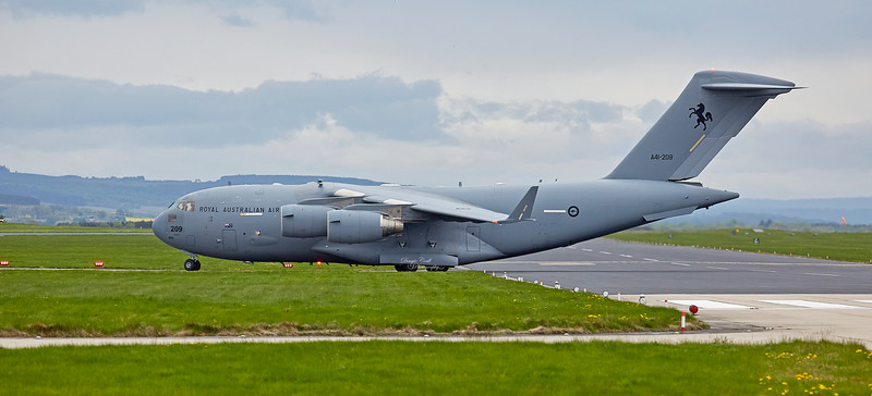 Royal Australian Air Force Boeing C-17A Globemaster III (A41-209) RAF Lossiemouth - 9 May 2018