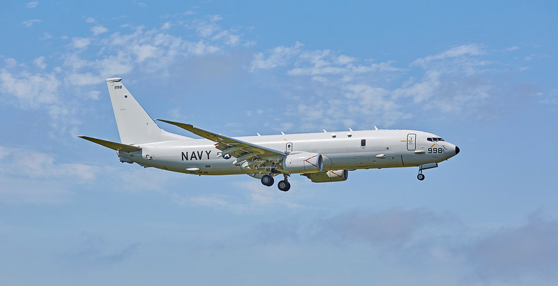 US Navy Boeing P-8A Poseidon (168998 ) at RAF Lossiemouth - 29 June 2018