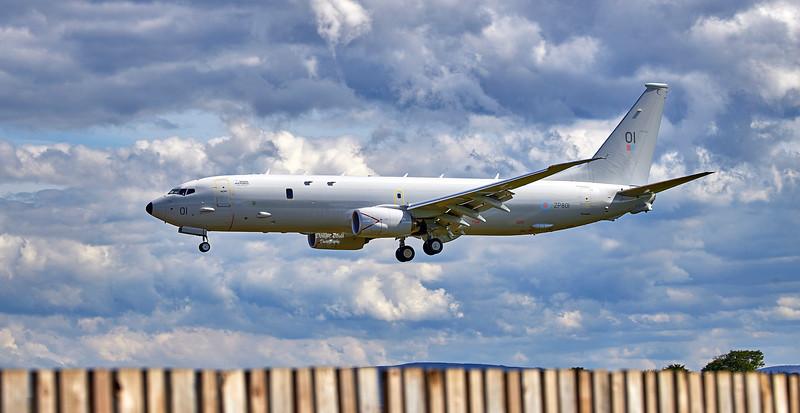 RAF Boeing P-8 Poseidon (ZP801) at RAF Lossiemouth - 7 June 2021