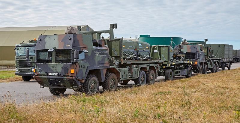 German NATO combat vehicles at RAF Lossiemouth - 3 July 2018