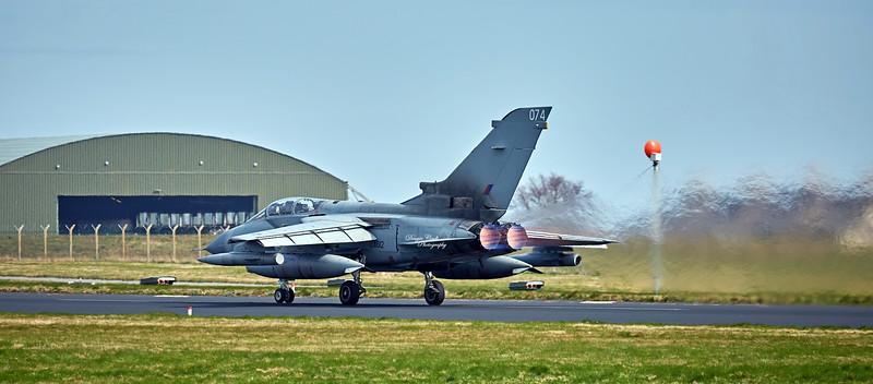 Tornado 074 (ZA612) at RAF Lossiemouth - 12 April 2016