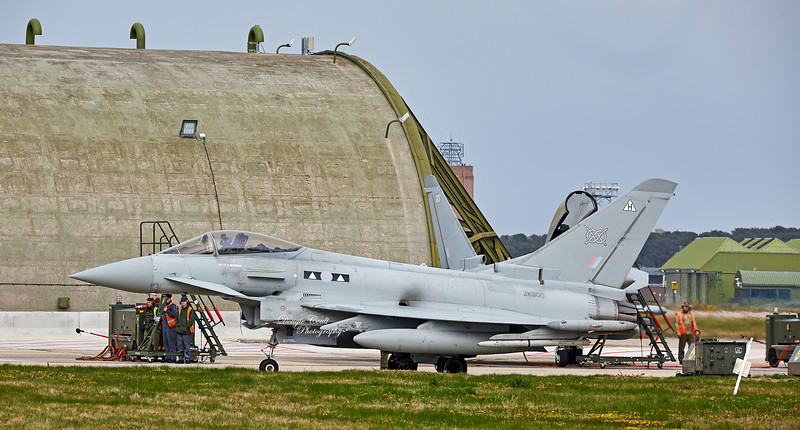RAF Eurofighter Typhoon FGR.4 (ZK300) at RAF Lossiemouth - 13 April 2016
