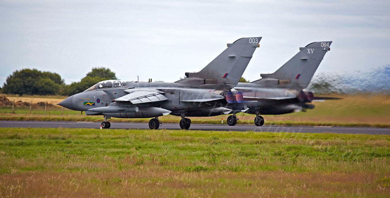 Tornados Taking Off - Lossiemouth - 9 August 2012