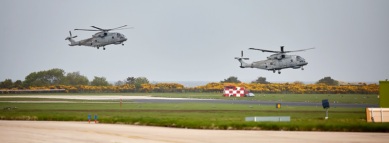 Merlins Arrive at RAF Lossiemouth for Refuelling - 11 May 2018