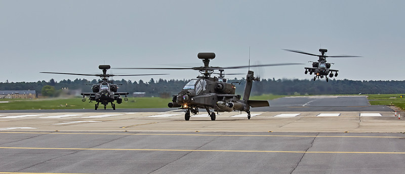 British Army Apache Attack Helicopters at RAF Lossiemouth - 9 May 2018
