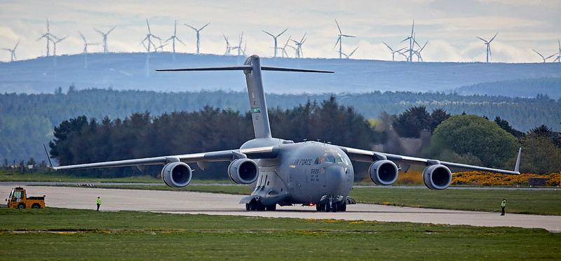 US Air Force Boeing C-17A Globemaster III (10-0220) at Lossiemouth Airport - 5 May 2018