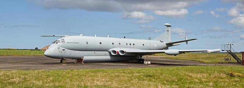 Static Nimrod-MR2 (XV244) at Kinloss Airfield - 10 May 2018