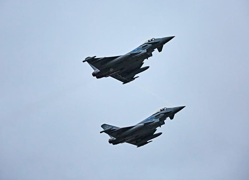 RAF 6 Squadron Typhoons depart Glasgow Airport - 6 November 2015