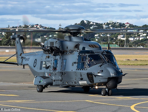 RNZAF NH90 helicopters at WLG, 8 February 2018