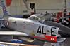 """Aalborg Forsvars- og Garnisonsmuseum on April 4, 2013. Royal Danish Air Force North American F-86D-30-NA Sabre """"AL-E"""" (cn 173-172/51-6028)."""