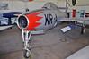 """Aalborg Forsvars- og Garnisonsmuseum on April 4, 2013. Royal Danish Air Force Republic F-84G-11-RE Thunderjet """"KR-A"""" (cn 4142-419B/ 19966/Ex. USAF 51-9966)."""
