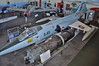 "Aalborg Forsvars- og Garnisonsmuseum on April 4, 2013. Royal Danish Air Force Canadair CF-104 Starfighter (CL-90) ""R-851"" (683A-1151/104851/RCAF 12851)."