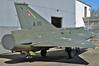 """Aalborg Forsvars- og Garnisonsmuseum on April 4, 2013. Royal Danish Air Force Saab F-35 Draken """"A-010"""" (cn 35.010)."""
