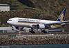 SIA B777-212(ER) arrival at Wellington, 15 December 2017