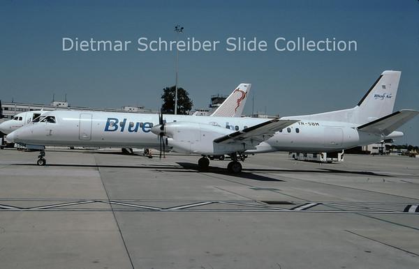 2009-08 YR-SBM Saab 2000 (c/n 014) Blue Air