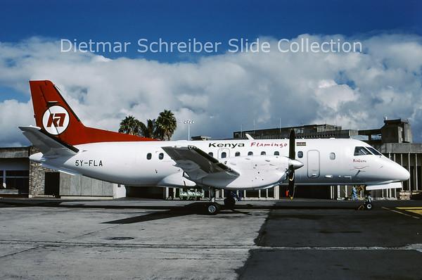 2000-07 5Y-FLA Saab 340B (c/n 163) Kenya Flamingo