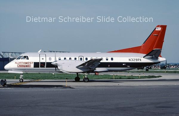 1987-08 N329PX Saab 340A (c/n 076) Mesaba Airlines