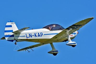 Aviation Day at Kjeller Aerodrome (ENKJ) on June 12, 2016. Nedre Romerike Flyklubb Apex Aircraft Mudry CAP 10B LN-KAP (cn 130).