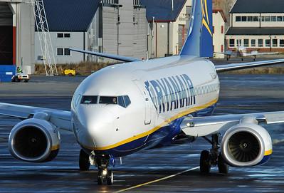 Sandefjord Airport Torp (TRF) on October 14, 2005. Ryanair Boeing 737-8AS EI-DHI (cn 33818/1685).