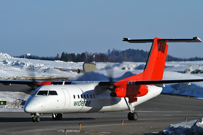 Sandefjord Airport Torp (TRF) on March 17, 2006. Widerøe De Havilland Canada DHC-8-311 Dash 8 LN-WFU (cn 534).