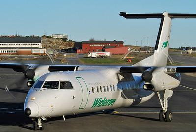 Sandefjord Airport Torp (TRF) on November 18, 2005. Widerøe De Havilland Canada DHC-8-311 Dash 8 LN-WFB (cn 293).