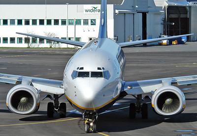 Sandefjord Airport Torp (TRF) on October 14, 2005. Ryanair Boeing 737-8AS EI-DAP (cn 33551/1368).