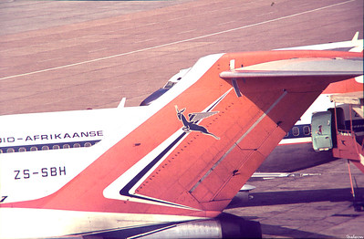 Copy From Slide 0294 Boeing 727-44C  c/n 20475/854  ZS-SBH Jan Smuts, Kempton Park, South Africa,      05/13/1973 South African Airways  This work is licensed under a Creative Commons Attribution- NonCommercial 4.0 International License.