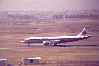 Copy From Slide 0275 Douglas DC-8-52  c/n 45814 / 258  EC-BAV Jan Smuts, Kempton Park, South Africa,      05/12/1973 Iberia  This work is licensed under a Creative Commons Attribution- NonCommercial 4.0 International License.