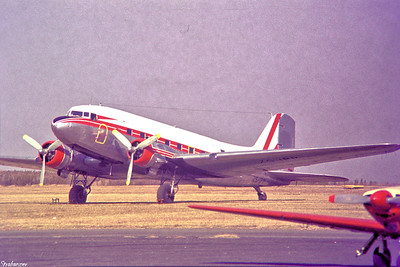 Copy From Slide 0286 C-47B-30-DK  c/n 33083/16335  ZS-IPP Rand Airport, Germiston, South Africa,      05/12/1973 Geoterrex Ltd, Terra Surveys, Ottawa, Ontario  This work is licensed under a Creative Commons Attribution- NonCommercial 4.0 International License.