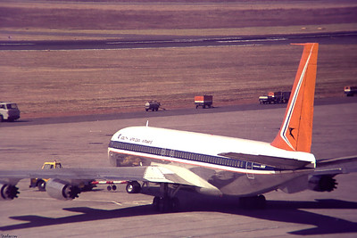 Copy From Slide 0276 Boeing 707-344   c/n 17929/154   ZS-SAB Jan Smuts, Kempton Park, South Africa,      05/12/1973 South African Airways  This work is licensed under a Creative Commons Attribution- NonCommercial 4.0 International License.