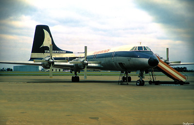 Copy From Slide 1432 Canadair CL-44-d4-1    c/n 30   G-AWGT  of Tradewinds Jan Smuts, Johannesburg, South Africa,     1974  This work is licensed under a Creative Commons Attribution- NonCommercial 4.0 International License.