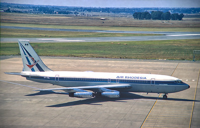 Copy From Slide 144 Boeing 720-025  c/n 18162/240 VP-YNL of Air Rhodesia Jan Smuts, Johannesburg, South Africa,     1974  This work is licensed under a Creative Commons Attribution- NonCommercial 4.0 International License.