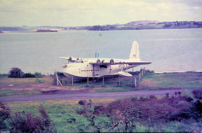 Copy From Slide 0260 Short Sunderland MR5  c/n SH.1473b  NZ4114 Whangerei, New Zealand,      11/71 RNZAF  This work is licensed under a Creative Commons Attribution- NonCommercial 4.0 International License.
