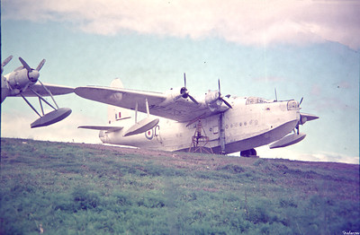 Copy From Slide 0264 Short Sunderland MR5  c/n SH.1552b  NZ4115 Whangerei, New Zealand,      11/71 RNZAF  This work is licensed under a Creative Commons Attribution- NonCommercial 4.0 International License.