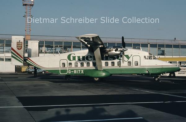 1987-05 G-BITX Shorts SH330 (c/n SH.3069) Guernsey Airlines