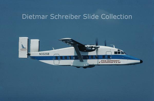 1985-09 N332SB Shorts SH330 (c/n SH.3096) Colgan Airways