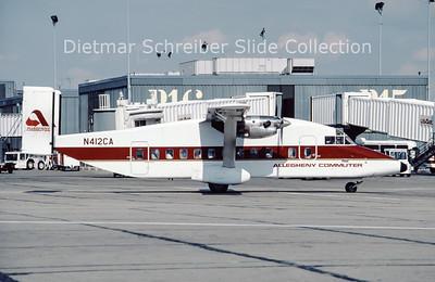 1987-07 N412CA Shorts SH330 (c/n SH.3016) Allegheny Commuter
