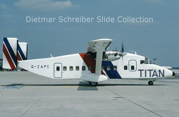 1991-07 G-ZAPC Shorts SH330 (c/n SH.3023) Titan Airways